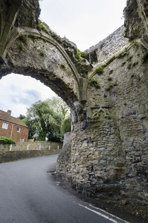 Interior of the ancient stone gateway circa 1300, to the small town of Winchelsea, East Sussex, Kent