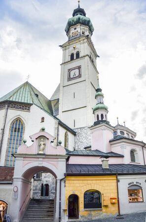 Saint Nicholas Parish Church in the ancient town of Hall in Tirol, Austria