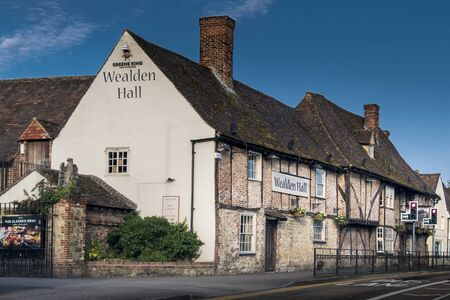 Wealsen Hall, an ancient timber framed building in the village of Larkfield, Aylesford, Kent, UK