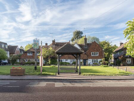 Brasted village green in the county of Kent, UK