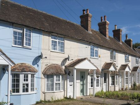A row of terraced cottages in Kent, UK Фото со стока