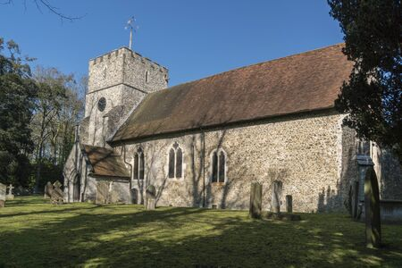 Saint Mary the Virgin church in the village of Thurnham, Kent, UK