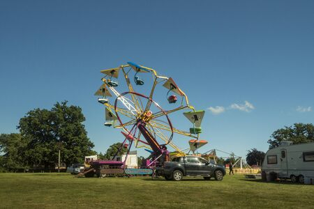 Funfair on the moor in the ancient village of Hawkhurst, Kent, UK