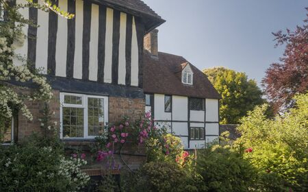 Ancient cottages in the village of Hawkhurst, Kent, UK Фото со стока