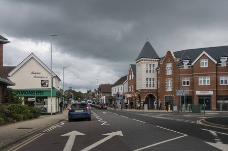 The busy town of Healthfield, East Sussex, UK Фото со стока