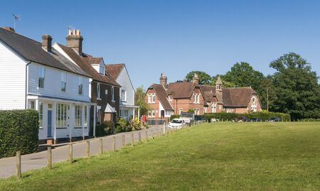 Houses on the moor in the ancient village of Hawkhurst, Kent, UK