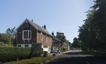 The Eight Bells public house in the ancient village of Hawkhurst, Kent, UK