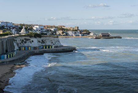 Viking Bay in the quaint seaside town of Broadstairs, Kent, UK 版權商用圖片