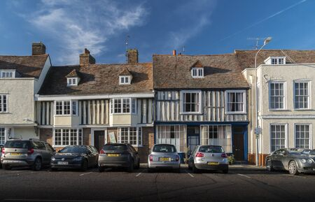 Ancient timber framed buildings in the medieval market town of Faversham, Kent, UK