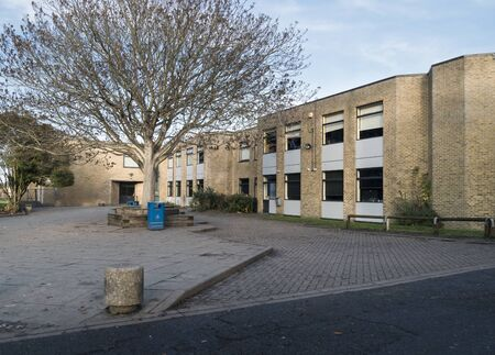 Typical secondary school buildings, Kent, UK