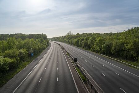 Empty M20 motorway during Covid-19 lockdown
