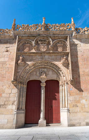 Ornate doorway  in the city of Salamanca, Spain 免版税图像