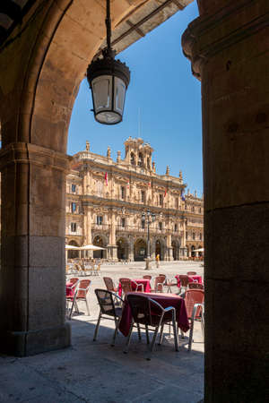 Plaza Mayor in the city of Salamanca, Spain