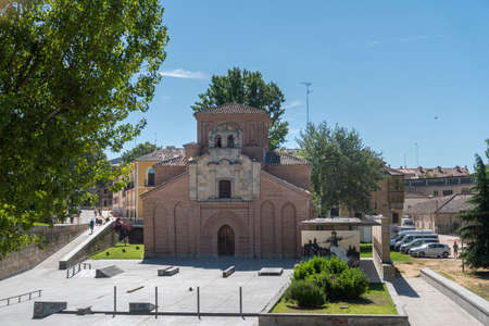 The church of Santiago with the skate park in the foreground, in the city of Salamanca, Spain