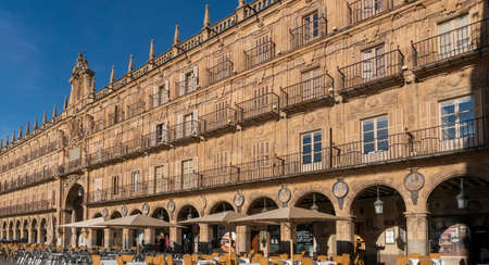 Plaza Mayor in the city of Salamanca, Spain 新闻类图片