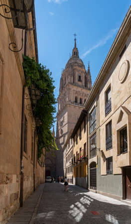 Sreet view of the city of Salamanca, Spain