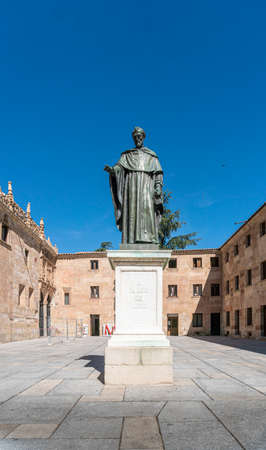 Monument to the Brother Luis of Leon  in the city of Salamanca, Spain