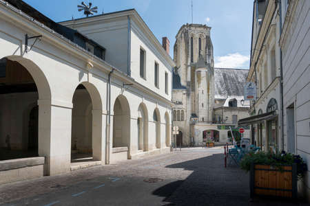Town of Bourgueil, in the Loire Valley, France 新闻类图片