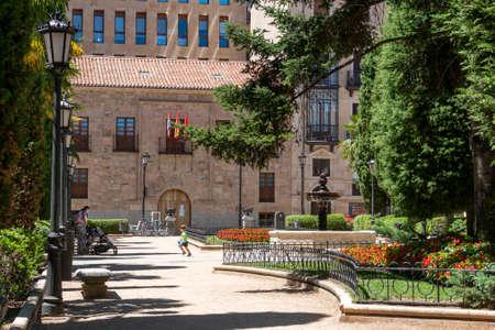 Public gardens in the city of Salamanca, Spain