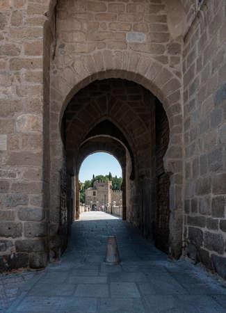 Toledo, Spain, July 2020 - Bridge of Saint Martin and city gate in the city of Toledo, Spain Redactioneel