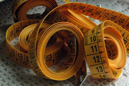 Measuring tape yellow by crafts and sewing works