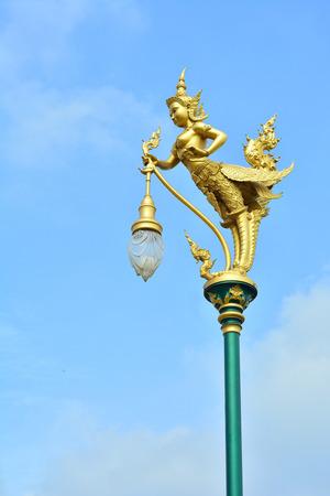 strangeness: The lamp is a half-man, half-bird. Shaped.