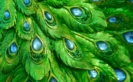 peacock pattern: Photos only a statue peacock peacock pattern exotic look. Stock Photo