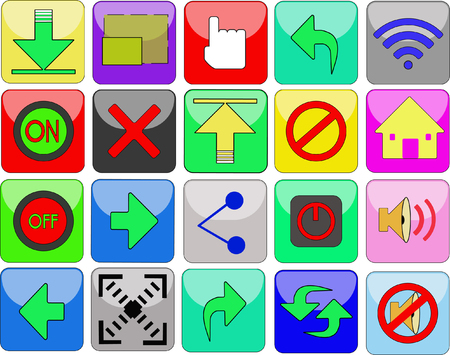 web site: Icon or button on a web site. Illustration