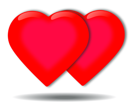 lull: Vector bright red heart with a white background picture day lull in love.