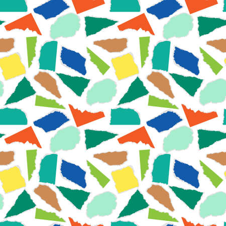 seamless pattern pieces of torn paper simple vector illustration.