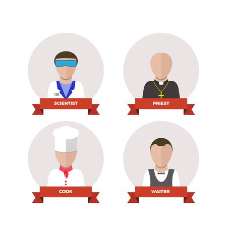 professions: professions people.flat design