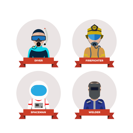 professions: professions people.flat design