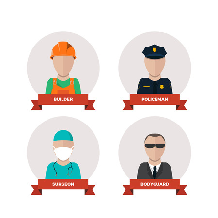 professions people.flat design