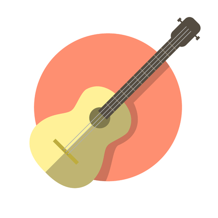 Classical acoustic guitar icon.