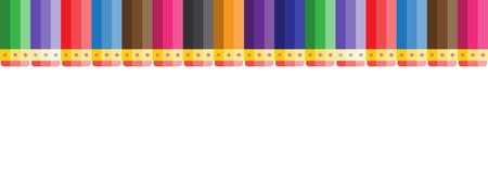 multicolored pencils with eraser illustration.