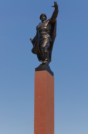 soviet: Monument Of Soviet Soldiers in Krivoy Rog Stock Photo