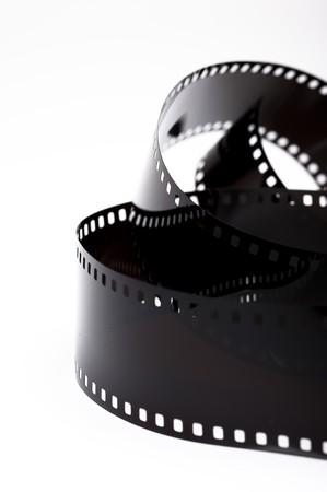 black photo film isolated on white background photo