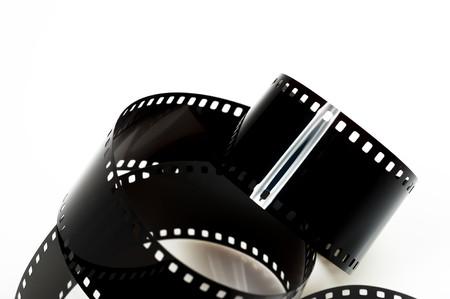 black photo film isolated on white background Stock Photo - 6975302