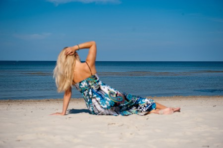 Young beautiful summer woman on the beach Stock Photo - 7089847