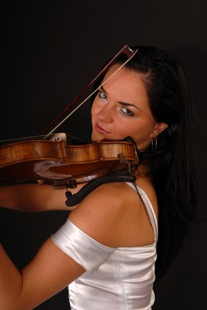 young girl with violin Stock Photo - 7415720