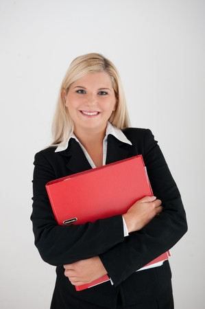 univercity: Atractive business woman with red folder