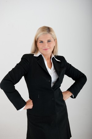 univercity: beautiful business woman in a suit