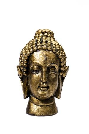 Buddha sculpture. isolated on white Stock Photo - 8045460