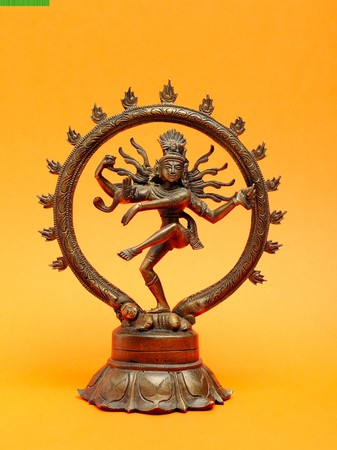 Statue of indian hindu god dancing Shiva Nataraja photo