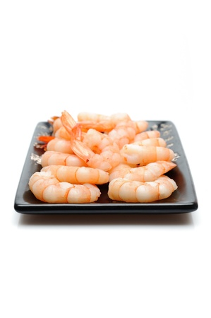 fresh shrimps  isolated. sushi ingredient Stock Photo - 11257395