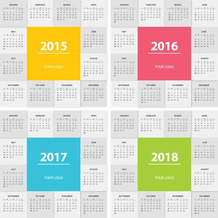 next year: Calendar for next year modern flat design