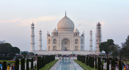 The Taj Mahal incorporates and expands on design traditions of Persian and earlier Mughal architecture. Editorial