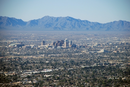 View from Camelback Mountain, Phoenix, Arizona photo