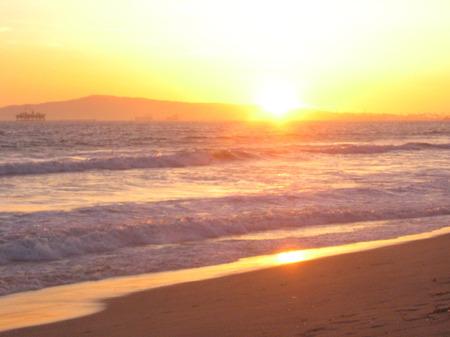 Pacific Ocean Beach Sunset