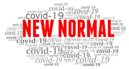 New normal word cloud isolated on white background